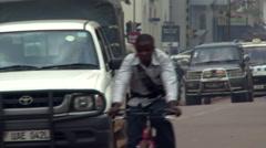 Traffic on a busy street in Kampala, Uganda Stock Footage