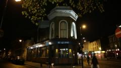 Traditional London Corner Pub in the night, London, England, Europe Stock Footage