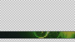 LED Lights Lower Third Title Strap (Green), Alpha Channel Stock Footage