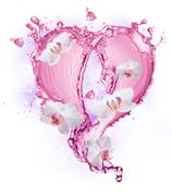 Heart from water splash with bubbles Kuvituskuvat