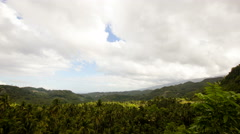 Panoramic views of jungle mountains in Philippines.Timelaps Stock Footage