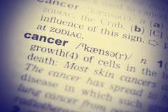 Cancer Dictionary Definition single word. Toned image - stock photo