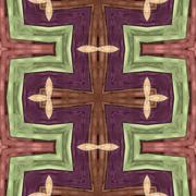 Wooden texture as kaleidoscopically generated background, seamless - stock illustration