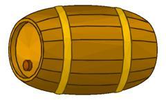 Wine Wooden Barrel Stock Illustration