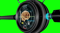 Futuristic HUD digital medical monitor. Medical concept  future. Green screen Stock Footage