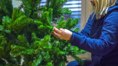 Making a Christmas tree Stock Footage