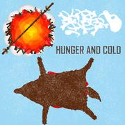 Hunger and Cold - card, background - stock illustration