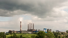 A factory or a plant on the mountain. Stock Footage
