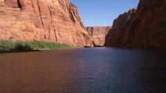 Low flight above Colorado River through Arizona's Marble Canyon - stock footage