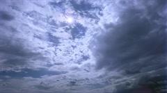 Stock Video Footage of Time-lapse darkening altocumulus clouds