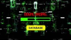 Progress bar download database Stock Footage