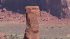 Orbiting Totem Pole Rock in Monument Valley Stock Footage