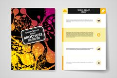 Stock Illustration of Set of brochure, poster design templates in DNA molecule style