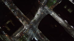 Orbiting over intersection of Broadway and Seventh Street in New York City at Arkistovideo