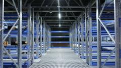 Metallic modern warehouse.  Stock Footage