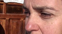 Stock Video Footage of Eyes and nose of woman with wrinkles