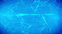 Technologies. Abstract background with plexus connections wire frame web Stock Footage
