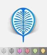 realistic design element. palm Jebel Ali - stock illustration