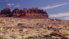 Spectacular painted mesas above Dirty Devil River, UT Stock Footage