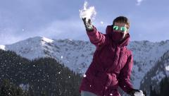 Winter Holidays in the Mountains HD Stock Footage