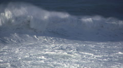 Avalanche of ocean waves tumbling toward camera Stock Footage