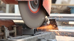 Metal Cutting Grinders Stock Footage