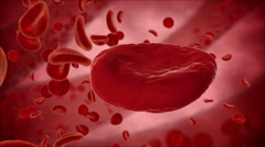 Virus, bacteria, microbe kills the blood cell, eritrocite. Medical concept. - stock footage