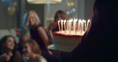 Beautiful woman shares birthday celebration with sexy friends Arkistovideo