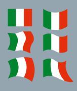 Italy Flag. Developing Italian flag. Set various flags of Italian State. Patr Stock Illustration