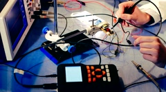 Testing devise In The Electronics Lab Stock Footage