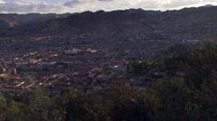 Panoramic view of Cusco, Peru Stock Footage