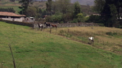 Countryside near Cuenca, Ecuador Stock Footage