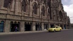Basilica del Voto Nacional in Quito, Ecuador - stock footage