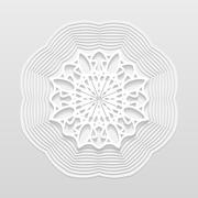 Decorative flower, decorative snowflake, mandala - stock illustration