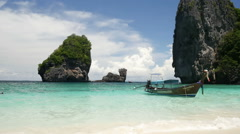 Tropical Paradise of Nui Bay in Phi Phi Islands, Thailand Stock Footage