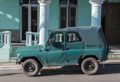 Cuba, Oldtimer - stock photo