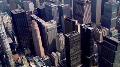 Aerial view of Manhattan skyscrapers Stock Footage