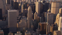 Slow flight over Lower Manhattan Stock Footage