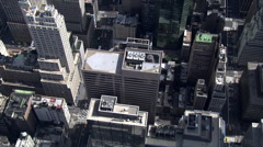 Flying across 5th Avenue near St. Patrick's Cathedral, New York City - stock footage