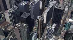 Flying over downtown Lower Manhattan Stock Footage