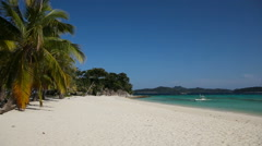 Beautiful beach and tropical sea Stock Footage