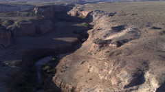 Flying over Coalmine Canyon in Arizona Stock Footage