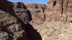 Flying through weathered canyon in Arizona Stock Footage