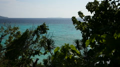 tropical sea under the blue sky - stock footage