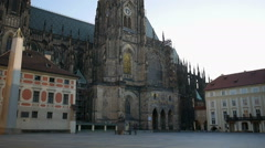 St. Peter and Paul Cathedral in Vysehrad, Prague. Stock Footage
