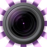Stock Illustration of Camera lens with violet flare