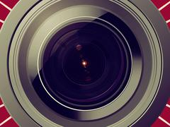 Camera lens Stock Illustration
