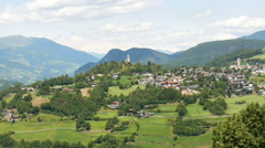 Beautiful landscape of Italian South Tyrol, realtime video. - stock footage