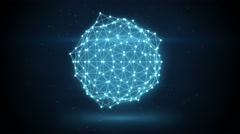 Glowing futuristic network shape loopable animation 4k (4096x2304) Stock Footage