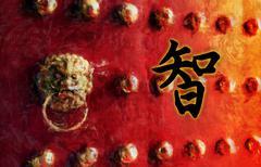 Wisdom Chinese Character - stock illustration